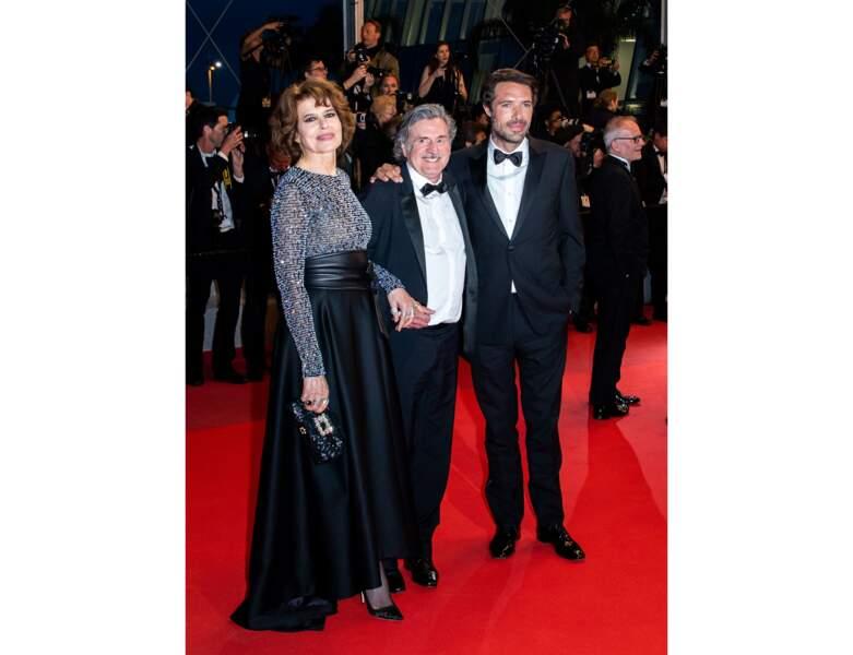 Fanny Ardant, Daniel Auteuil, Nicolas Bedos posent à Cannes en 2019