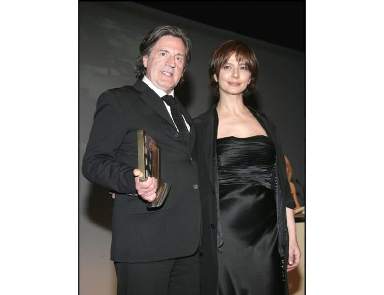 2009 : Daniel Auteuil est photographié avec Laura Morante
