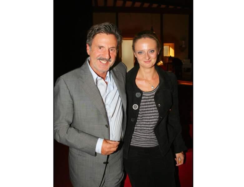 En 2006, il pose avec sa fille Aurore