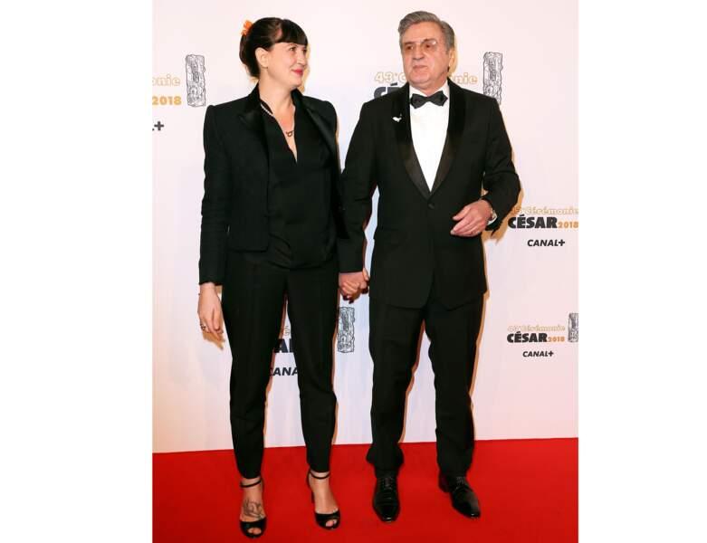 2018 : il pose avec sa femme pour la cérémonie des César