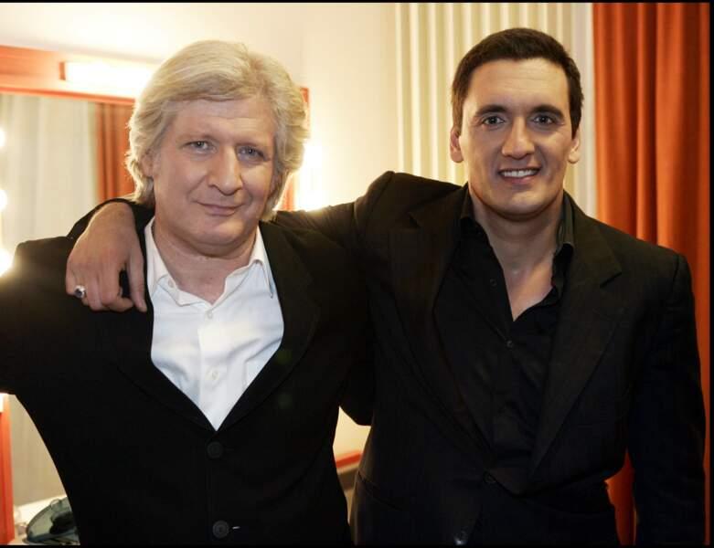 2005 : il pose au côté de Patrick Sébastien