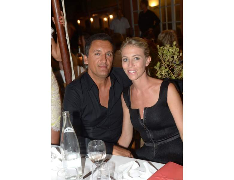 Dany Brillant et sa femme Nathalie au restaurant à Saint-Tropez