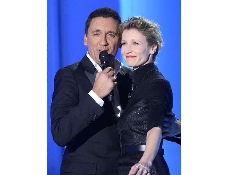 Le chanteur et Alexandra Lamy en 2015 sur le plateau de l'émission Vivement Dimanche