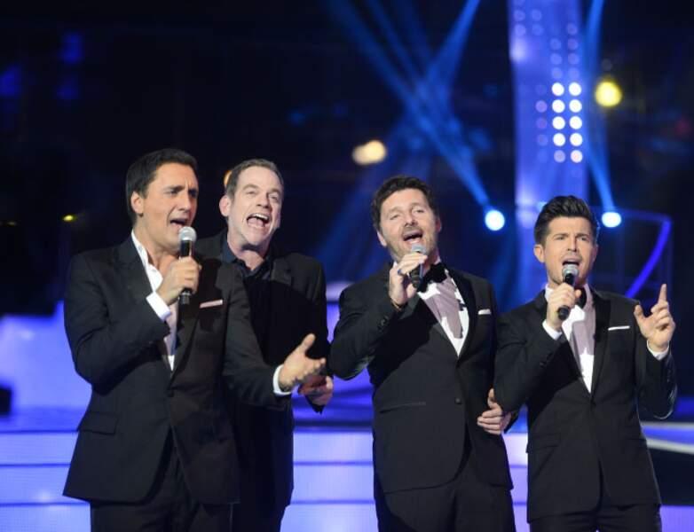 Dany Brillant, Garou, Philippe Lellouche et Vincent Niclo chantent pour le Téléthon en 2014
