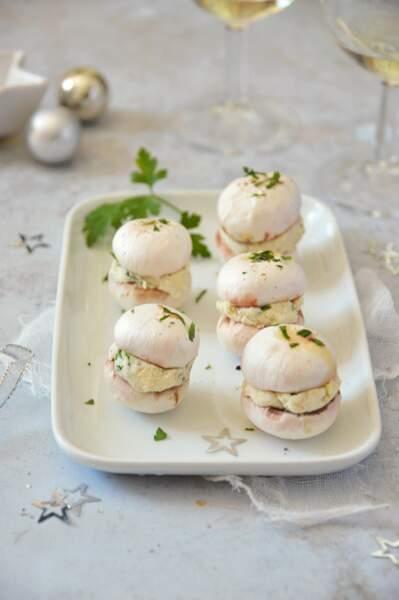 Macarons de champignons à l'okara