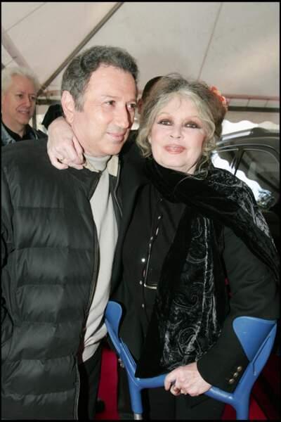 Michel Drucker et Brigitte Bardot en 2005