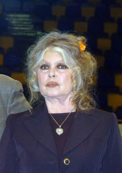 Brigitte Bardot en 2004, elle a 70 ans