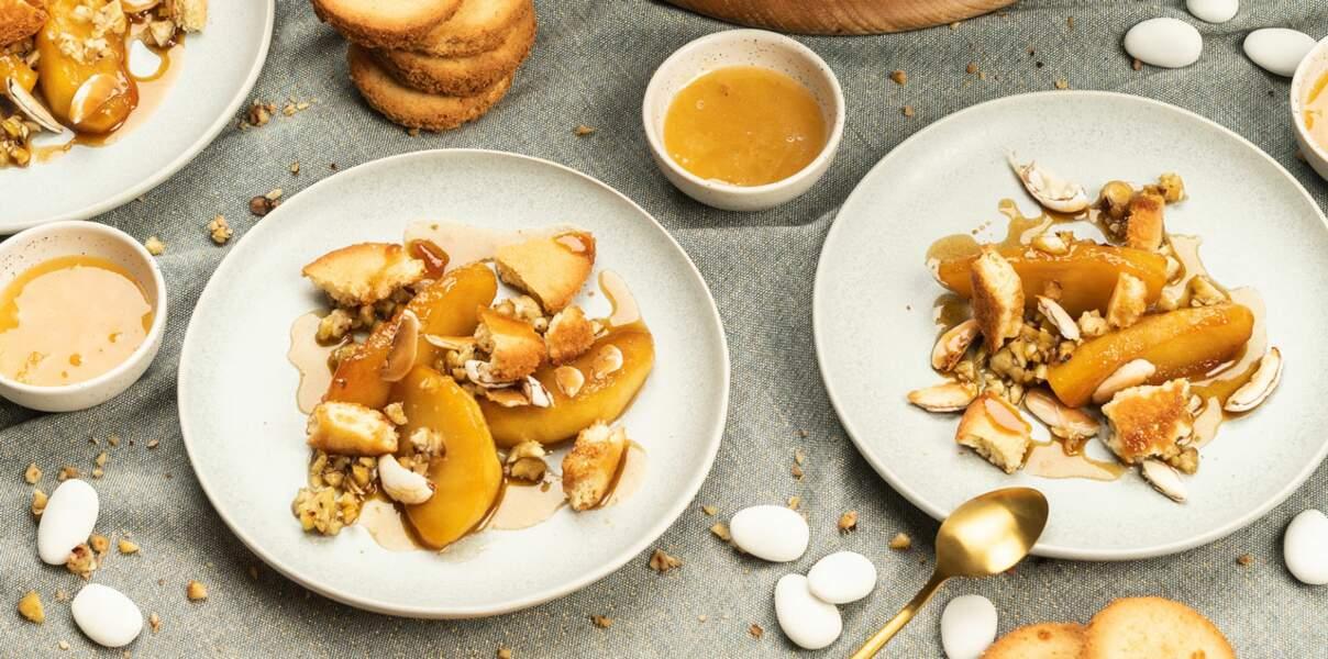 Pommes caramélisées, dragées, miel et châtaignes d'Alain Passard