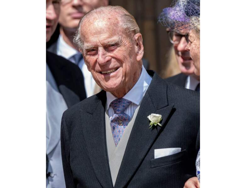 En mai 2019, le Prince Philip assiste au mariage de Lady Gabriella Windsor et Mr Thomas Kingston