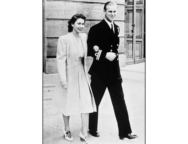 1947, le couple se balade : la reine Elizabeth a 21 ans
