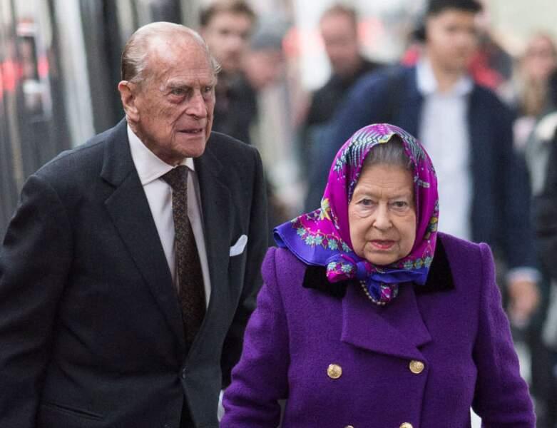 2017 : le Prince Philip apparait avec sa femme, sa majesté Elizabeth II