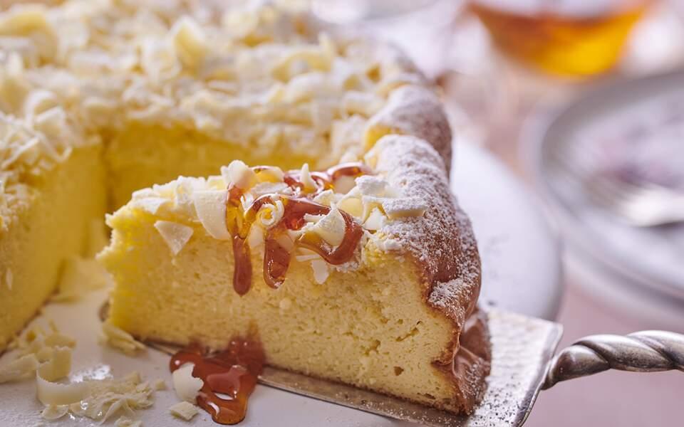 Cheesecake japonais au chocolat blanc et citron