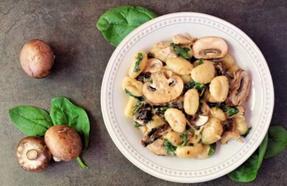 Gnocchis à la crème et aux champignons