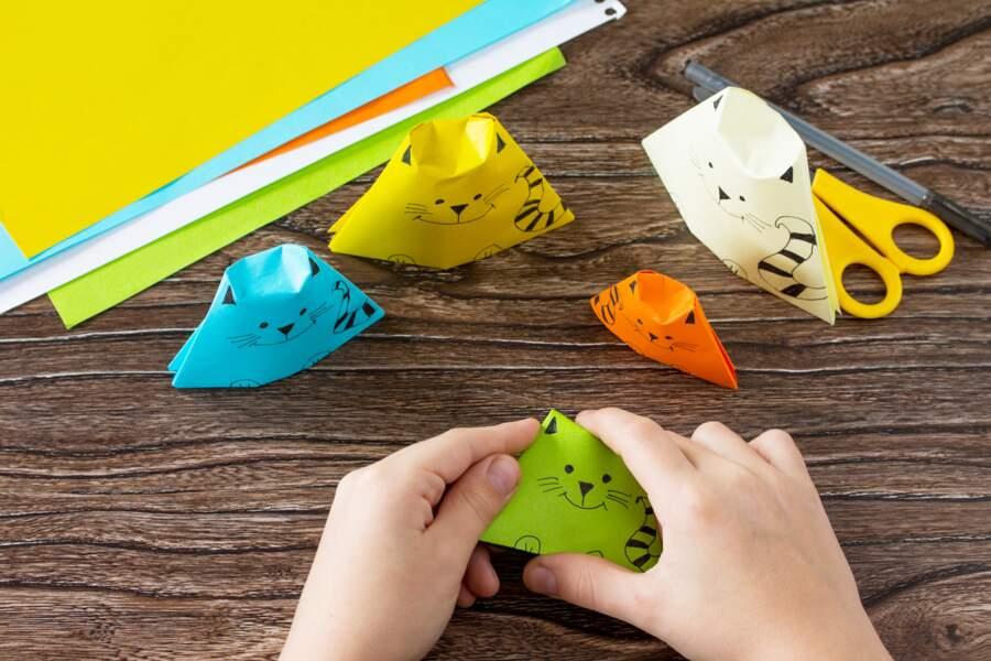 Créer des origamis en forme d'animaux