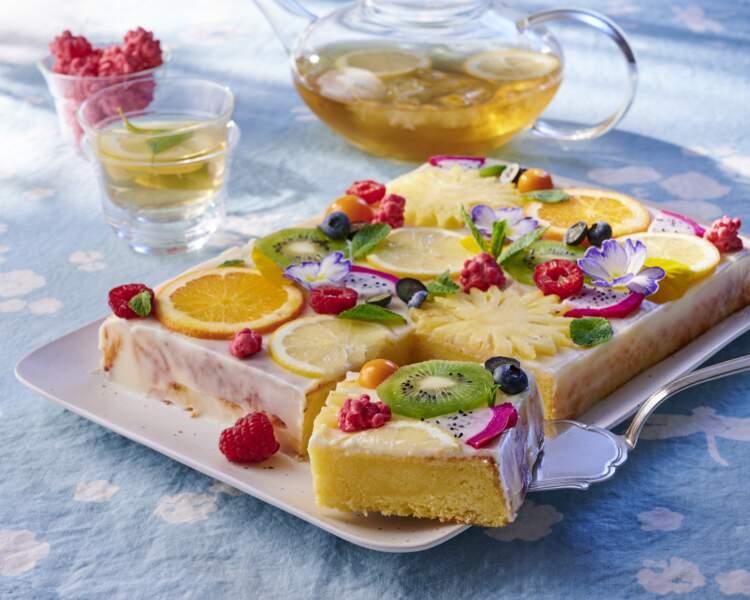 Gâteau de printemps citronné
