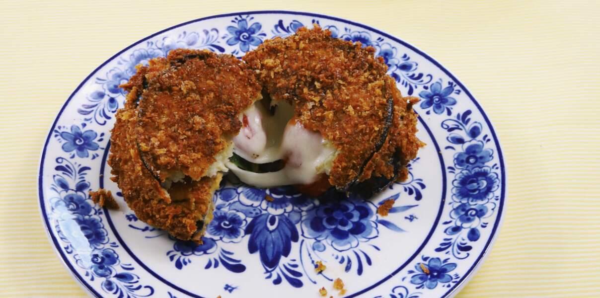 Croquettes d'aubergine farcies à la provola et aux tomates confites