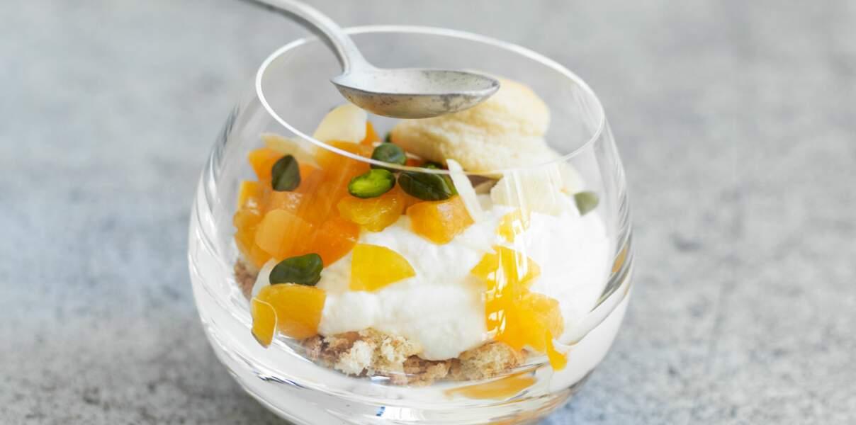 Trifle abricot et mousse de ricotta