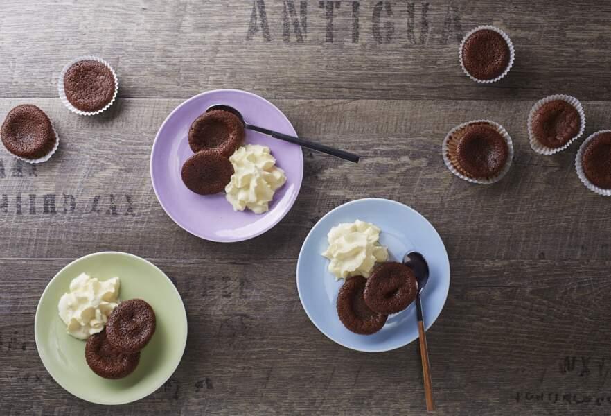 Mini fondant au chocolat facile et rapide