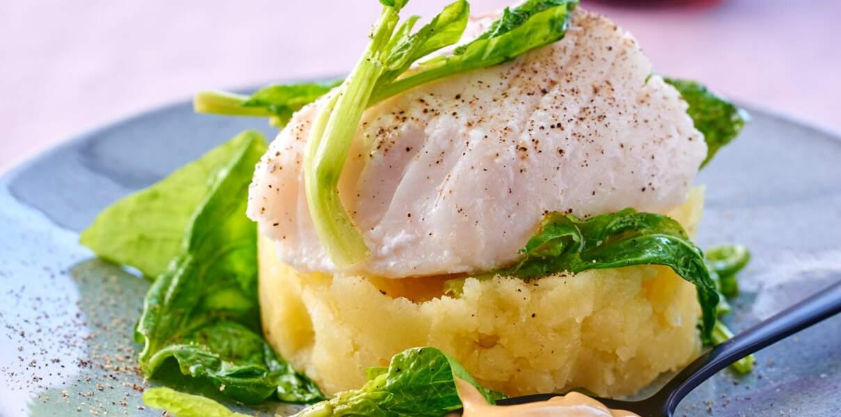 Filet de cabillaud, sauce moutarde-soja