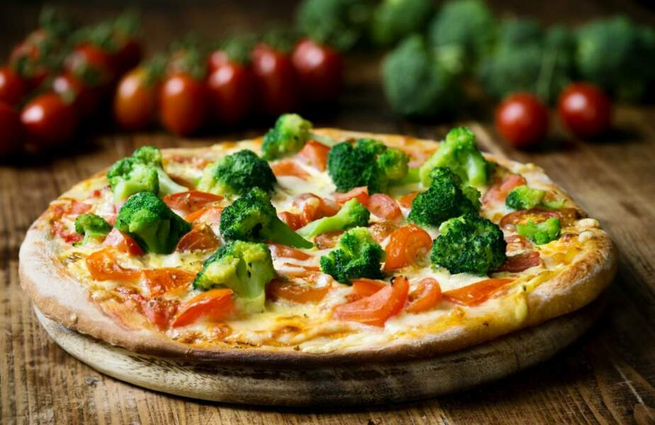 Pizza poivron, brocoli, chèvre