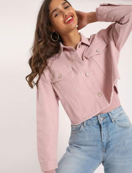 Veste en jean : cropped