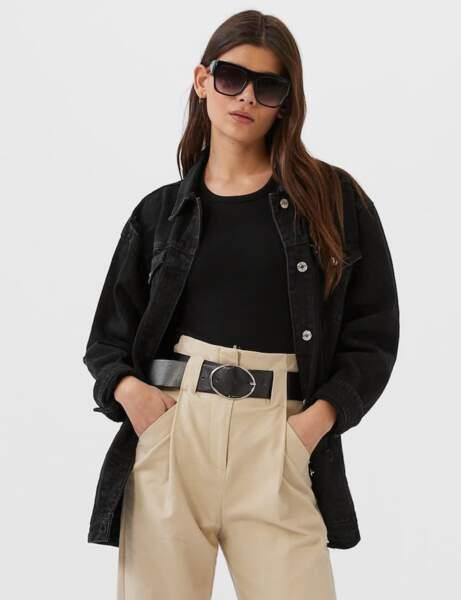 Veste en jean :  girl in black