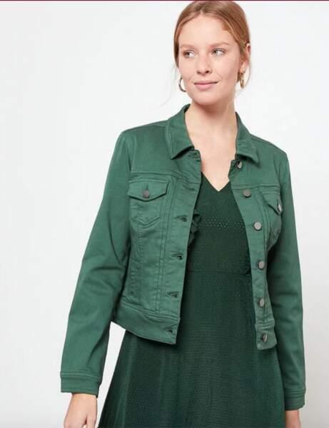 Veste en jean : green passion