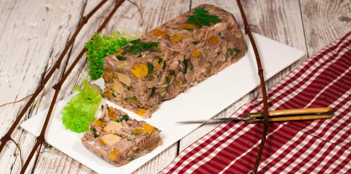 Terrine d'agneau irlandais au foie gras
