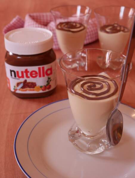 Mousse au chocolat blanc et au Nutella du Chef Grégory Cohen