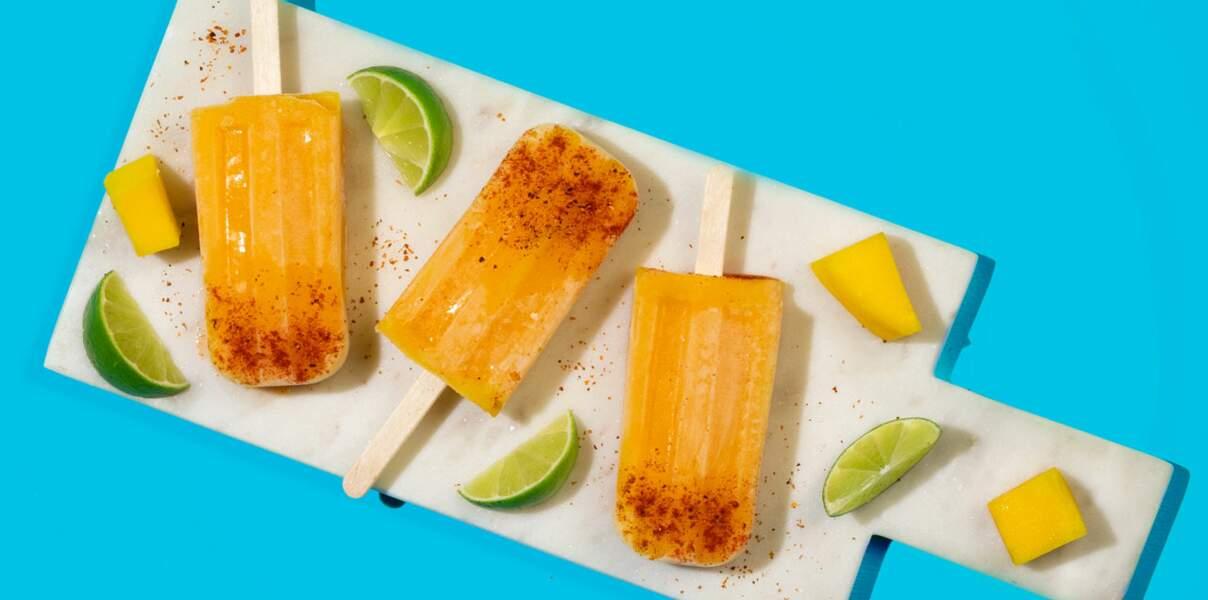 Bâtonnets glacés à la mangue
