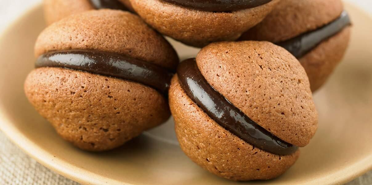 Whoopies caramel et chocolat