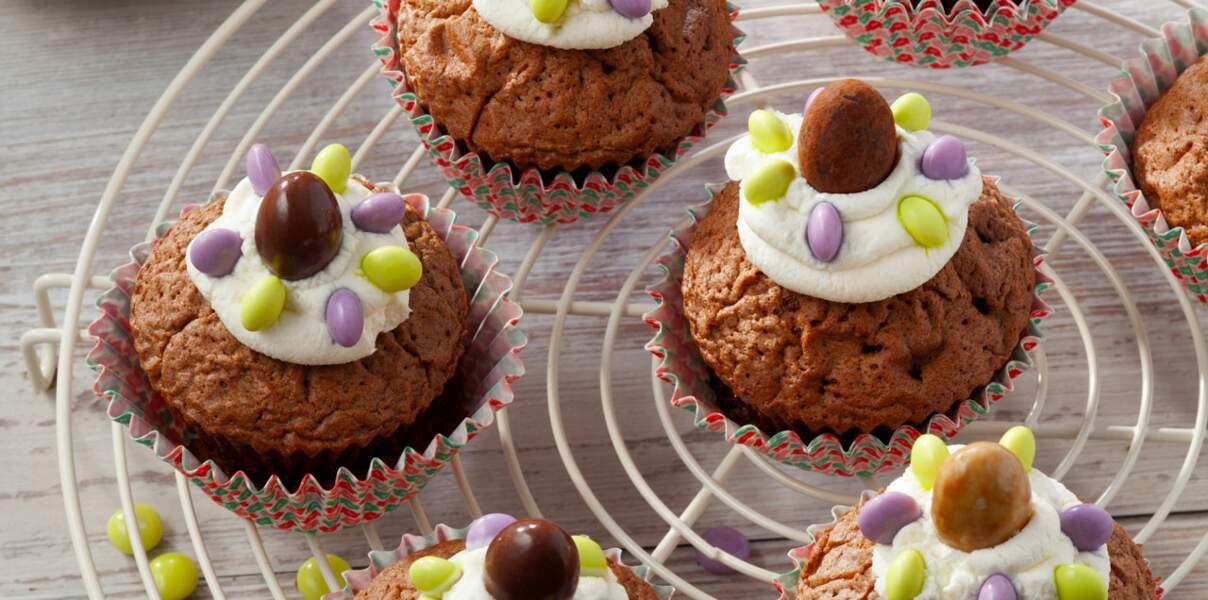 Les bonshommes cupcakes au chocolat