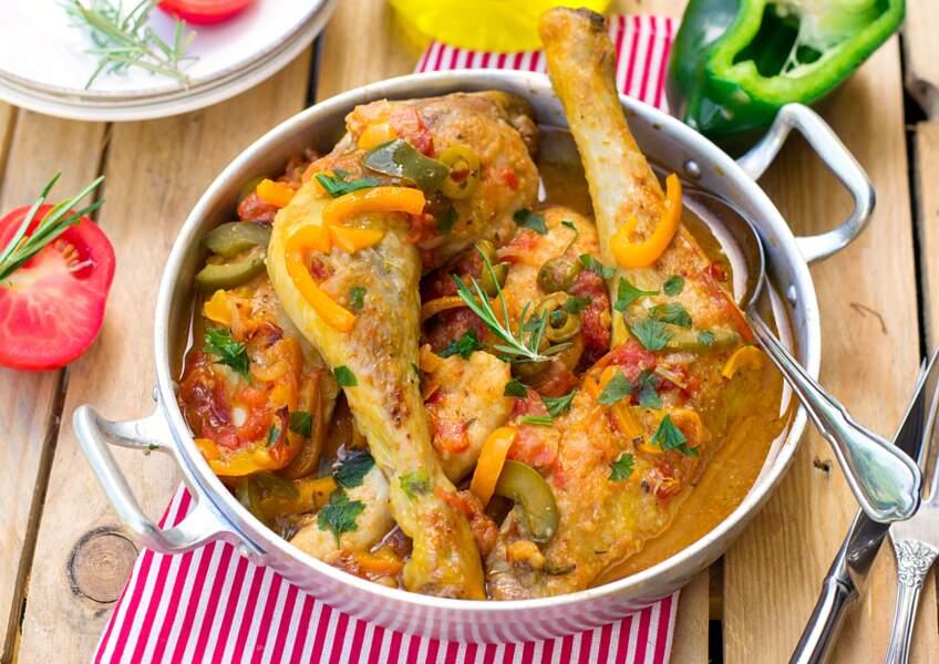 """""""Tous en cuisine"""" : la recette du poulet basquaise, riz cuisiné et crème de chorizo de Cyril Lignac"""