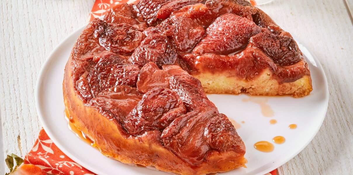 Gâteau aux fraises façon tatin
