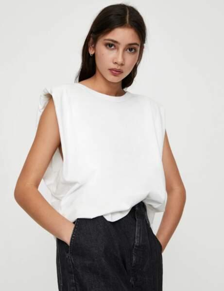Tendance tee-shirt à épaulettes : trendy