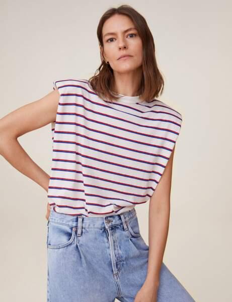 Tendance tee-shirt à épaulettes : marin d'eau douce