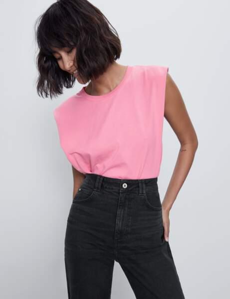 Tendance tee-shirt à épaulettes : girly