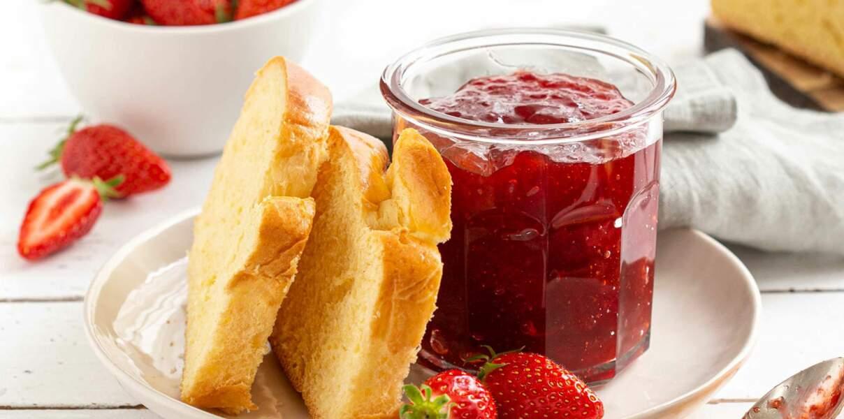 Confiture de fraises au miel de fleurs