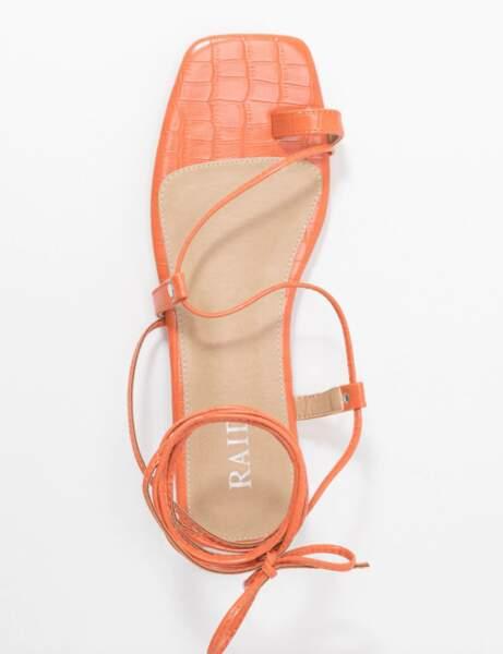 Sandales bout carré : plates et flashy