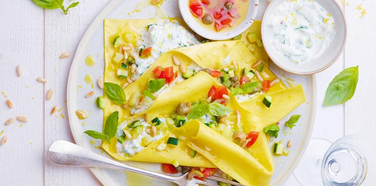 Ravioles d'été au fromage blanc