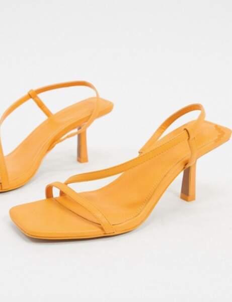 Sandales bout carré : avec brides très fines