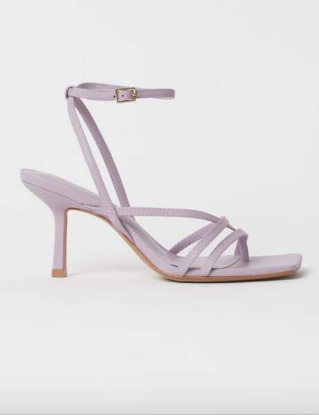 Sandales bout carré : dans la tendance pastel