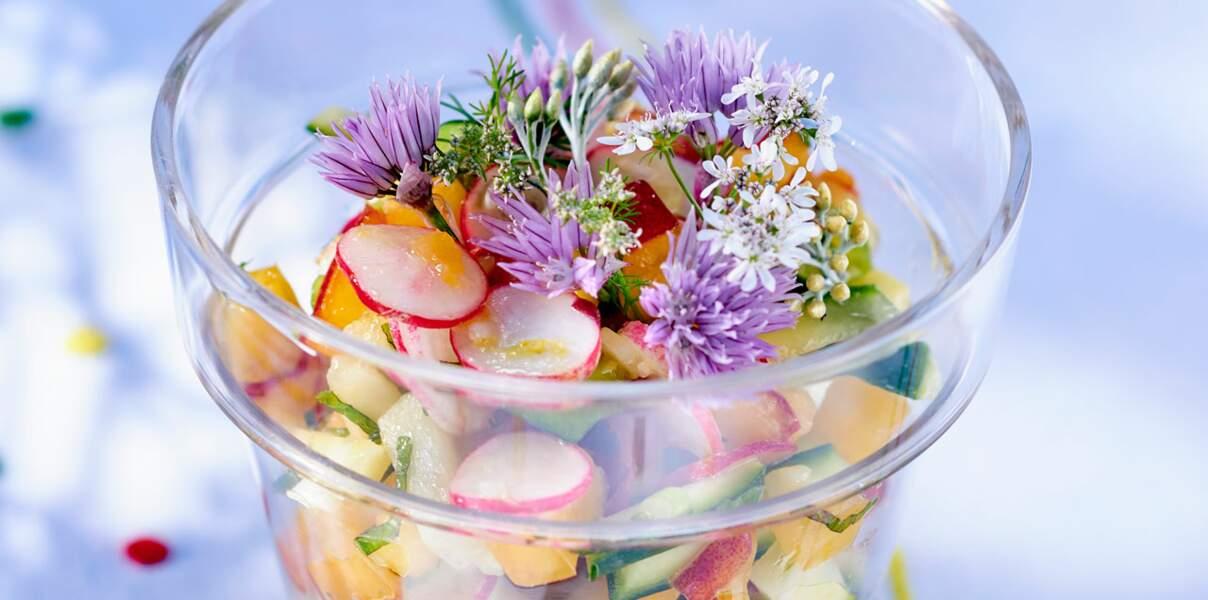 Salade d'été croquante