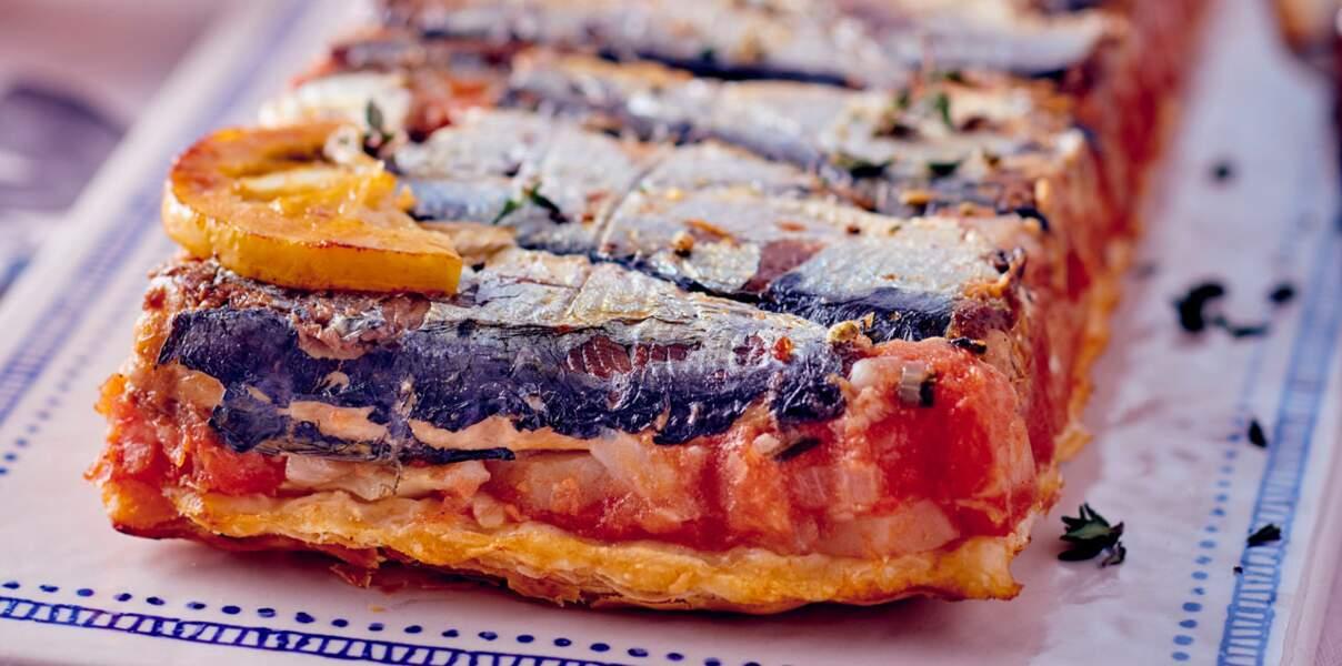 Tarte tatin aux sardines