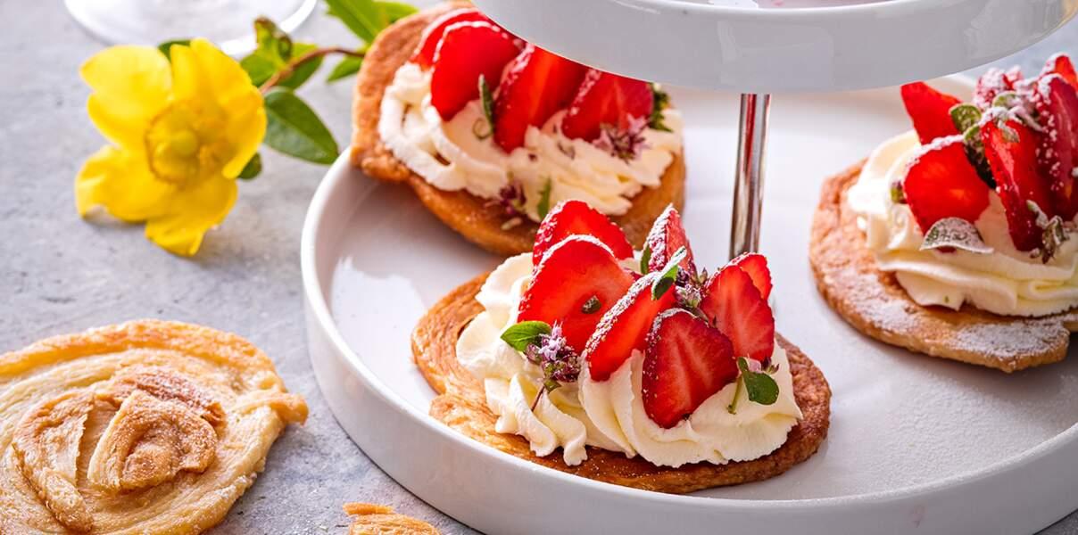 Arlettes aux fraises