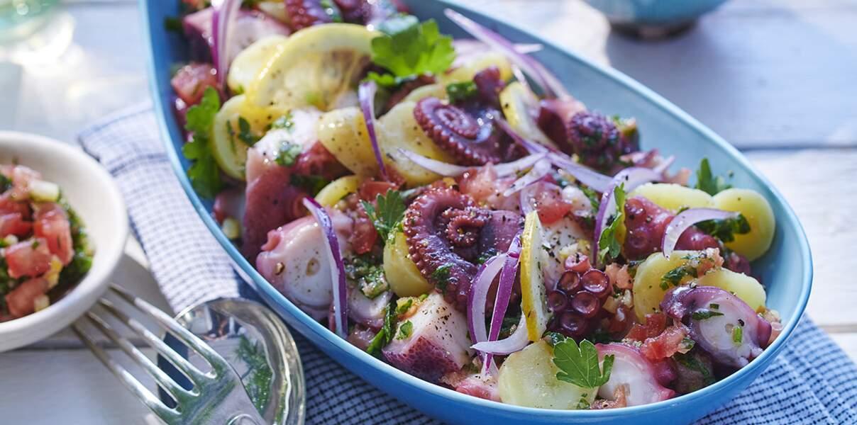 Salade de poulpe aux pommes de terre