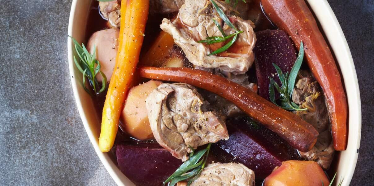 Pot-au-feu d'agneau bio aux légumes oubliés