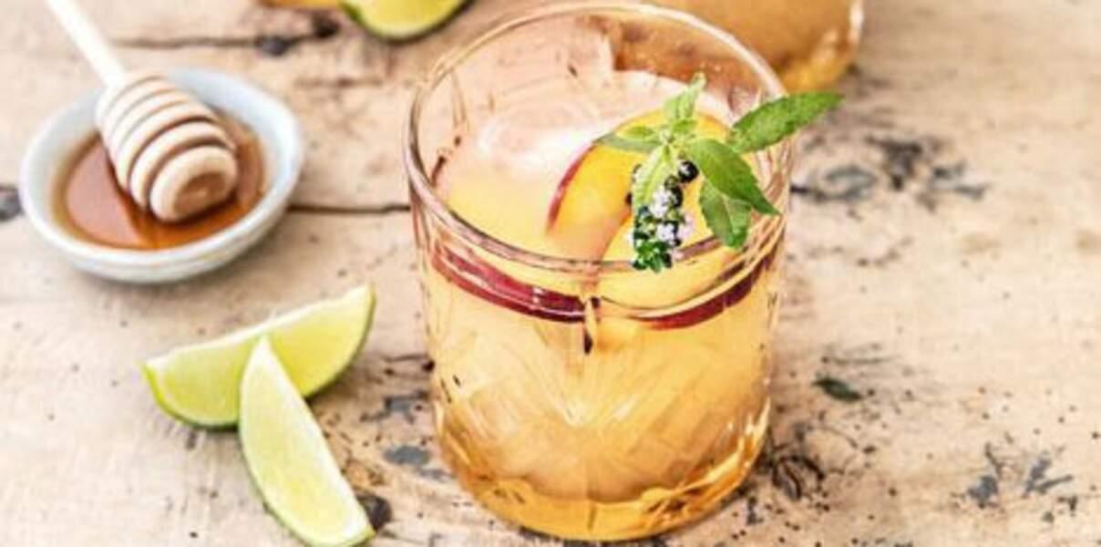 Mocktail coco fraîcheur et pêche