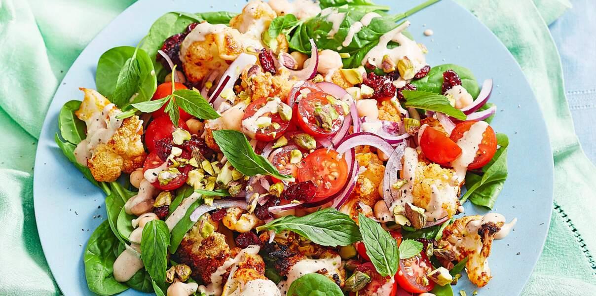 Salade de chou-fleur confit