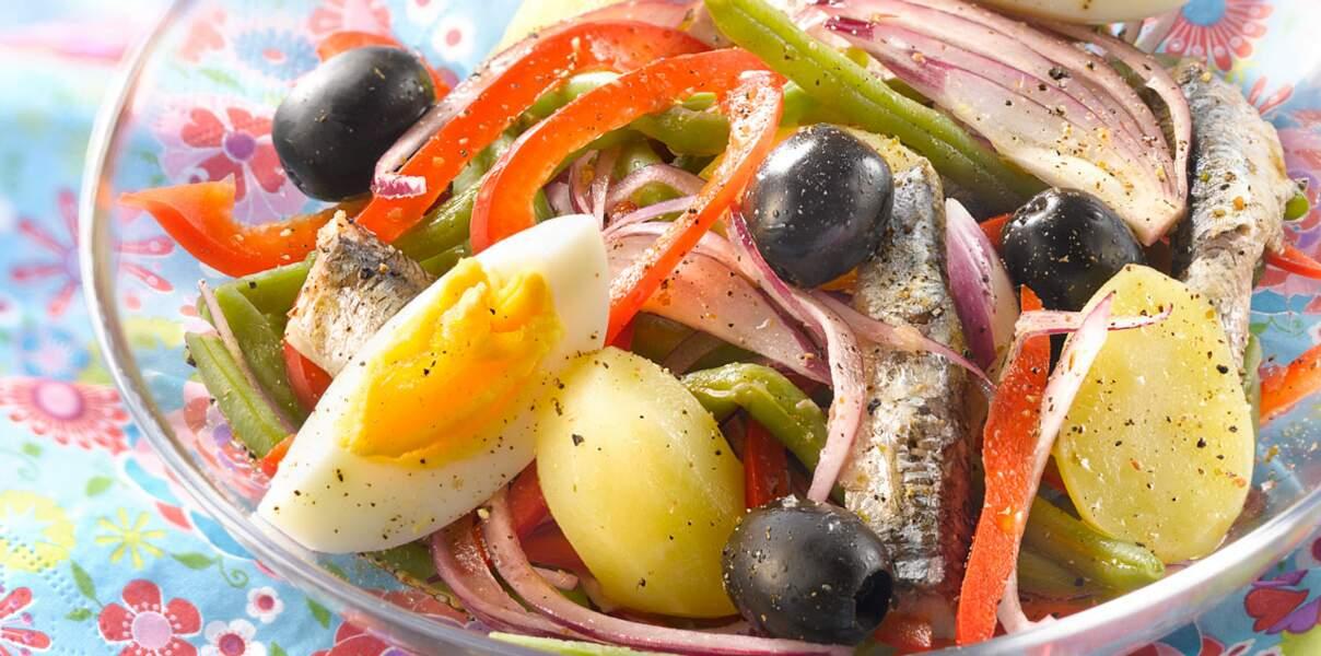Salade provençale aux sardines